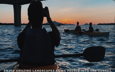 Sunset paddle to the Lantern town